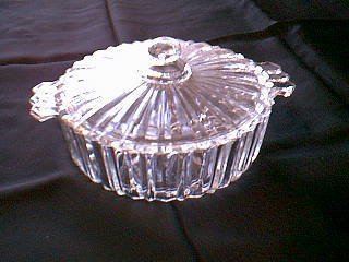 FORTUNE CANDY DISH AND LID