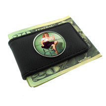 Pin Up Retro Ice Cream Funny Double-Sided Money Clip Leather 102 - $12.48
