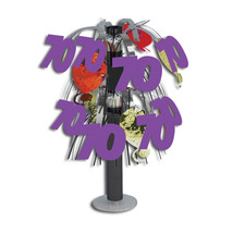 "10 1/2"" Tall Mini Foil Centerpiece 70th/Case of 6 - £22.15 GBP"