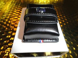 s.t.dupont black leather carring case  model no. 180024 in the original box NIB - $215.00