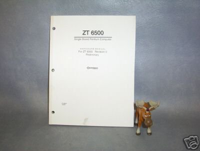 Ziatech Corp. Hardware Manual For ZT 6500 _____G16
