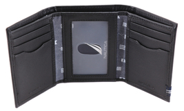 Nautica Men's Genuine Leather Credit Card Id Holder Trifold Wallet image 7
