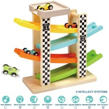 TOP BRIGHT Toddler Toys for 1 2 Year Old Boy and Girl Gifts Wooden Race ... - $40.49