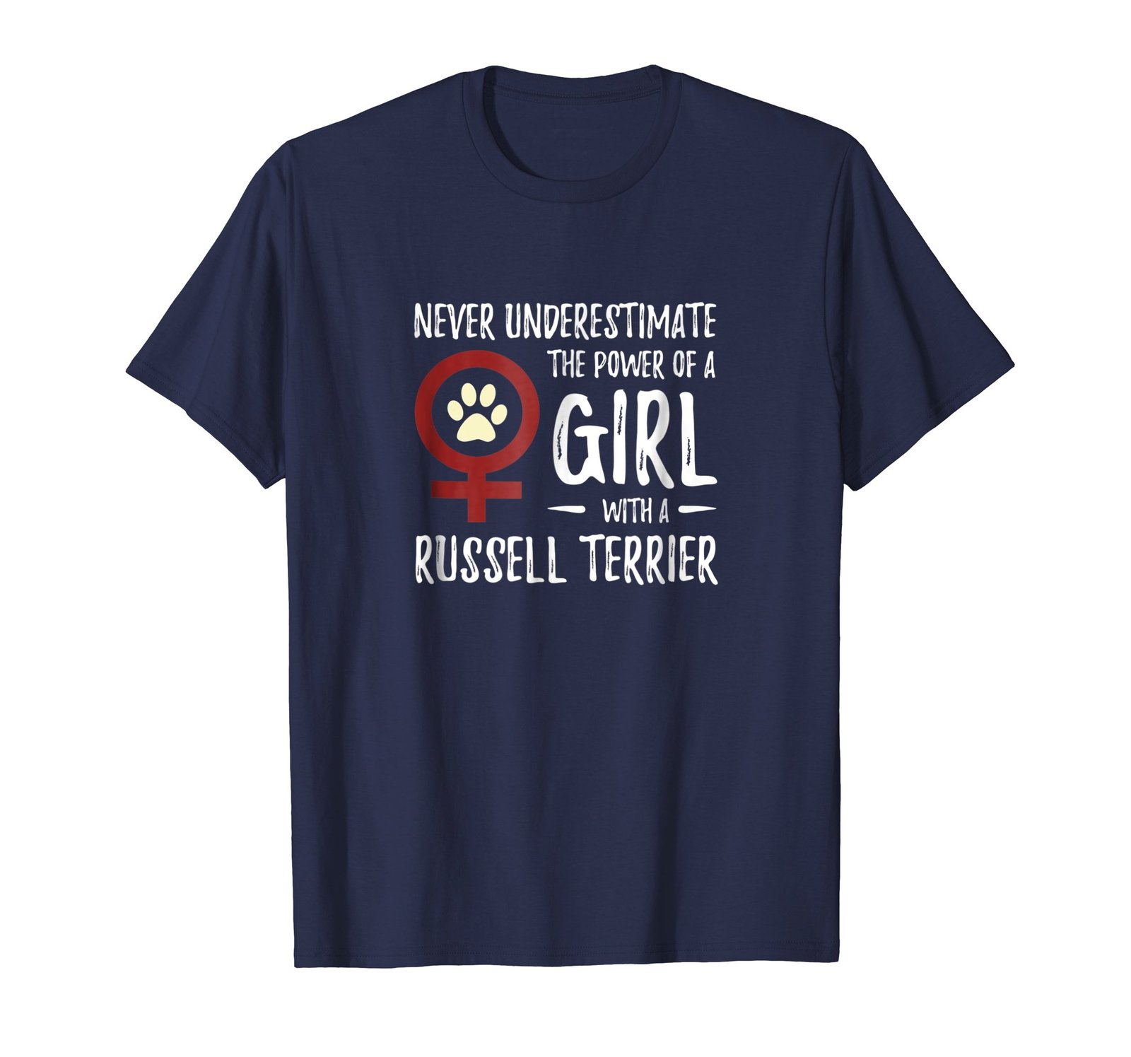 Power of Girl With Jack Russell Terrier T-Shirt for Dog Mom