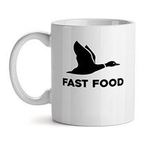 Fast Food - Mad Over Mugs - Inspirational Unique Popular Office Tea Coffee Mug G - $17.59