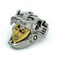 Han Cholo Silver & Gold Plated Surgical Stainless Steel Voltron Ring NEW image 3