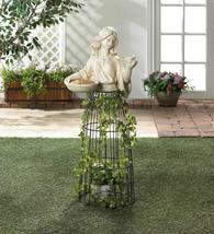 "LADY PLANT ATRIUM and Birdfeeder Garden Art Outdoor 43"" Tall - $103.95"