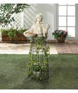 """LADY PLANT ATRIUM and Birdfeeder Garden Art Outdoor 43"""" Tall - $103.95"""