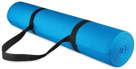 Exercise Yoga Mat Fitness Workout Gym Nonslip Floor Protector w/ Carrier... - $26.18