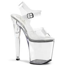 """PLEASER Sexy Stripper Dancer Tall Clear Platform 8"""" Heels Shoes XTM808/C/M - $59.95"""