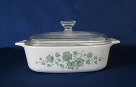 Corning Ware, Callaway Green Ivy, Casserole with Glass Lid, circa 1998-2000 - $18.00