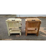 Beer Wine Beverage Ice Cooler Chest Outdoor Wood 48 Quart Wheeled Cart R... - $503.91+