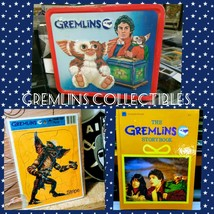 """1984 GREMLINS_Metal LunchBox Thermos """"Gizmo & Stripe"""" Phoebe Cates Colle... - $88.83"""