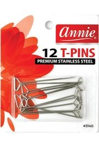 Annie #3140 Silver Stainless Steel T Pins - $4.90