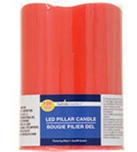 Luminessence Battery-Operated Red Wax LED Pilla... - $8.00