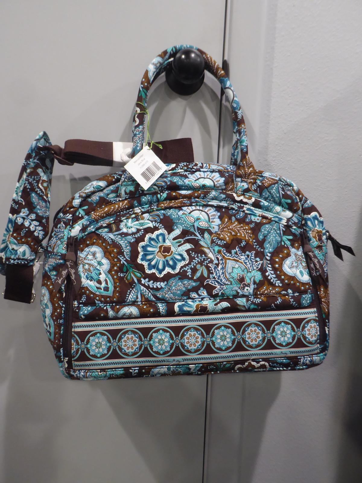 f5f9fb56be NWT Vera Bradley Java Blue Metropolitan bag and 50 similar items