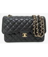 NEW Chanel Jumbo Black Caviar Classic Double Flap Bag GHW - $6,599.00