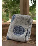 Indian hand block print kantha quilt throw bed cover king size - $49.99