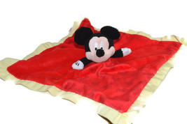 Disney Mickey Mouse Lovey Security Blanket Crinkle Ears - $7.95
