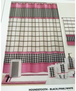 Brand New Creative Bath Fabric shower curtain Houndstooth 72 x 72 - $18.80
