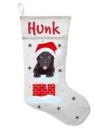 Black Labrador Christmas Stocking - Personalized and Hand Made Black Lab... - $30.40+