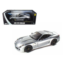 Ferrari 599 GTB Fiorano Elite Edition Silver 1/18 Diecast Model Car by H... - $110.58