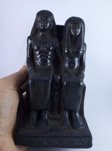 RARE ANCIENT EGYPTIAN ANTIQUE Egypt Ahmose Ii and Queen Nefertari Stone ... - $186.07