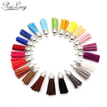10pcs/lot many colors mixed Suede Tassel For Keychain Leather Tassels si... - $29.90