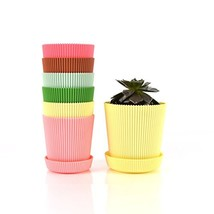 Truedays 5.3'' Set of 6 Multicolored Circle Flower Plant Pots / Planters... - $395,52 MXN