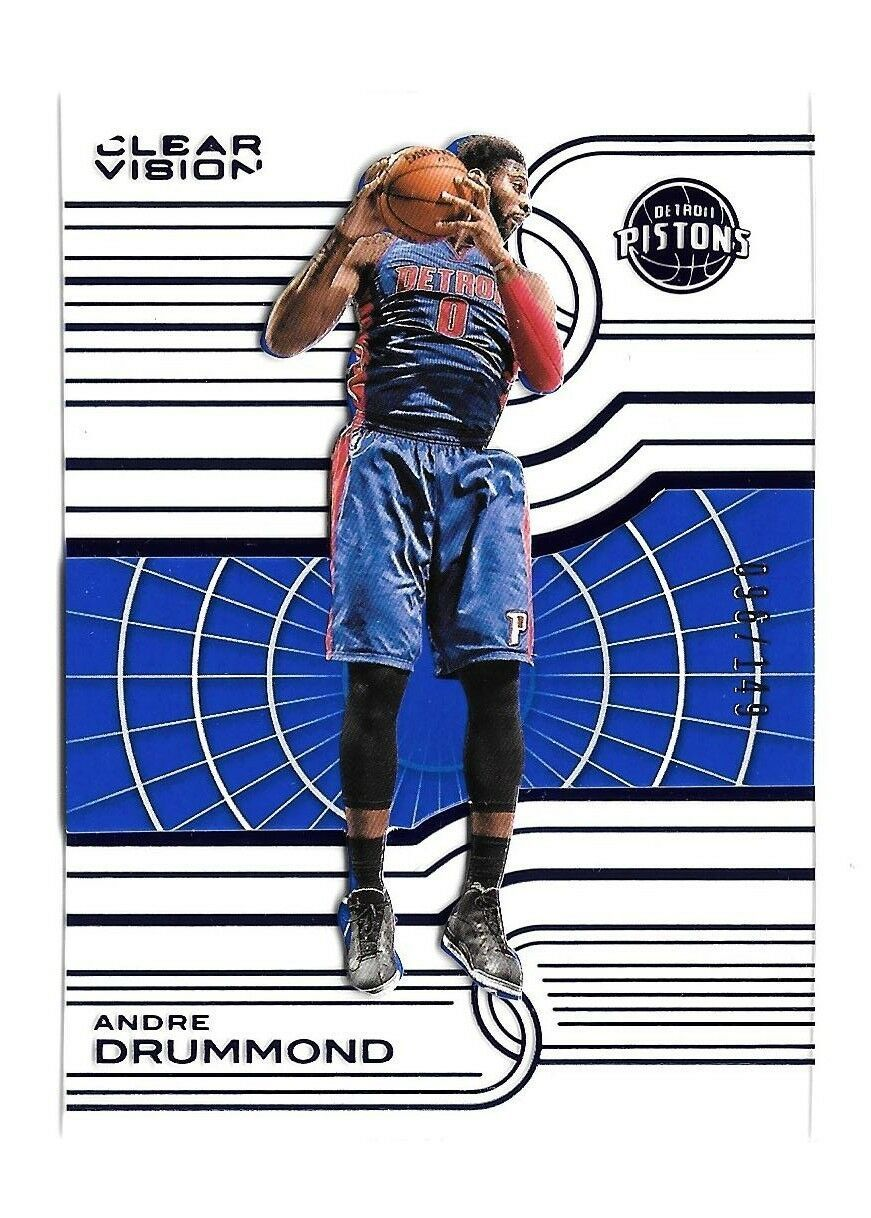 Primary image for 2015-16 Andre Drummond Panini Clear Vision Blue /149 - Detroit Pistons