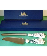 Goebel Smithsonian White Rose Cake Knife & Cake Server 2 PC. Set New - $48.90