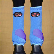 Medium Hilason Horse Front Leg Ultimate Sports Boot Blue Purple U-UR-M - $49.95