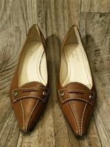 AK Anne Klein iflex Brown Leather Pumps Womens Size 6.5 High Heels Shoes - $29.96