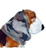 Green Brown Black Khaki Woodland Camouflage Fleece Camo Dog Snood Size L... - $12.50