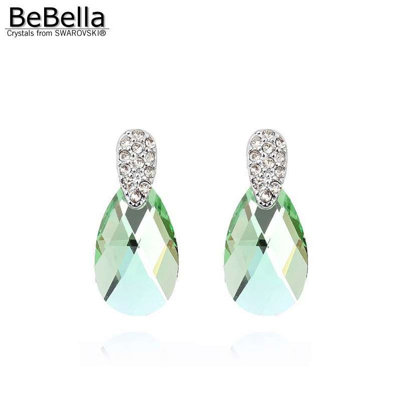 BeBella crystal pear drop earrings for women with Crystals from Swarovski fashio