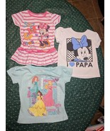 Disney Princess and Minnie Mouse Shirts / Dress 12 Months - $8.79