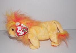 "Ty Beanie Baby Bushy Plush Lion 9"" Stuffed Animal Retired with Tag 2000 ... - $3.99"