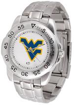 West Virginia Mountaineers Licensed Mens Sport Steel Band Watch - $66.03