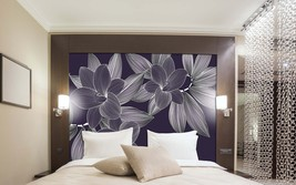 Tropical Lily Mural, Removable Wallpaper,Peel and stick wallpaper, Home ... - $69.00+