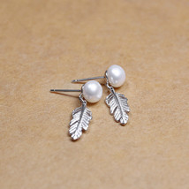 Women Ethnic 925 Sterling Silver Art Feather Exquisite Freshwater Pearl ... - $45.70
