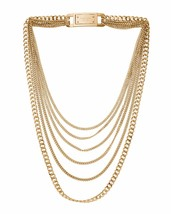 Michael Kors MKJ2920 Glam Rock Multi Strand Golden Brass Necklace BNWT $195 - $174.75