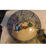 FolkCraft Stoneware by Tienshan Cabin In The Snow RETIRED Plates Christmas - $7.99
