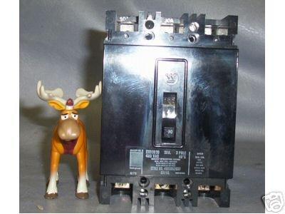 Westinghouse Circuit Breaker 30 Amp 480 VAC EHB3030