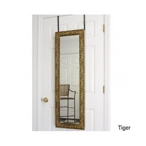 Jewelry Armoire Armoires Mirror Wall Hanging Framed Big Floor Contemporary - $207.89