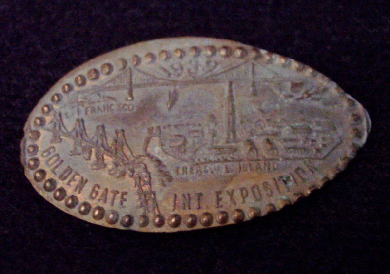 1939 Elongated Penny GOLDEN GATE EXPOSITION Vintage