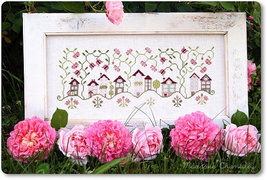 Roses Village cross stitch chart Madame Chantilly - $15.30