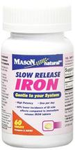 Mason Naturals Iron 50 mg Slow Release-60 Tablets - $21.99