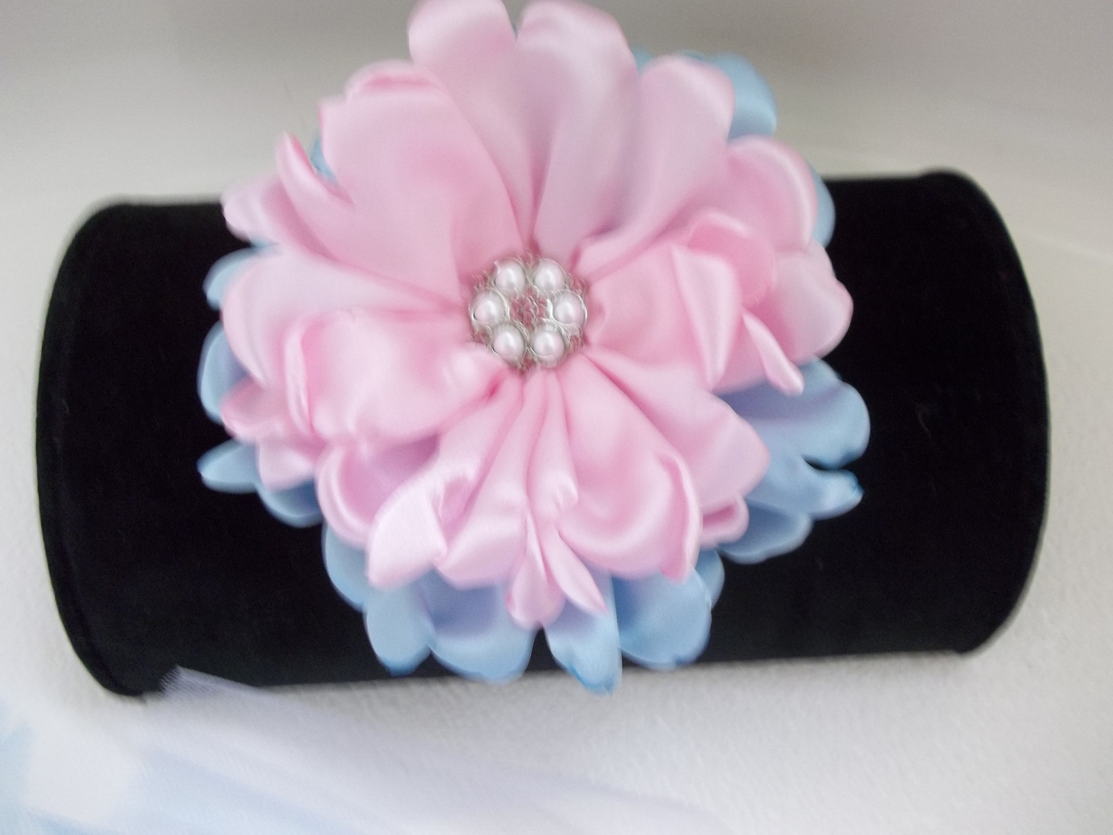 BABY GIRL COTTON CANDY (PINK & BLUE) TUTU PHOTO PROP DRESS WITH HEADBAND
