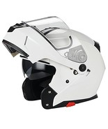 Traiangle Motorcycle Helmets Modular Dual Visor Flip Up (X-Large|Glossy ... - $76.06