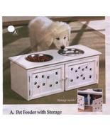 DOG FEEDING STATION WITH STORAGE CABINET - $29.99
